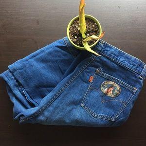 Denim - Levi's 70s orange tab vintage high waist jeans